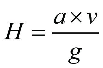 Formel vattenslagets storlek